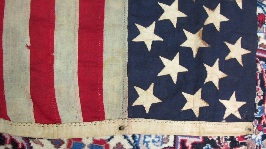 Antique 13 Star American Flag,  3-2-3-2-3 Pattern - 10