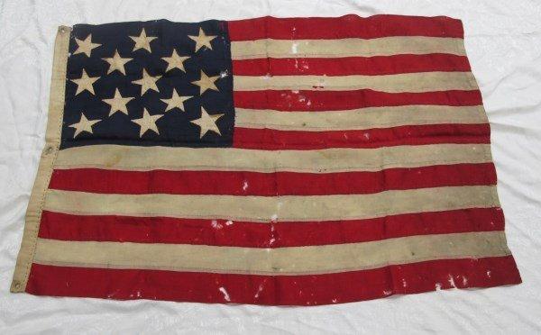 Antique 13 Star American Flag,  3-2-3-2-3 Pattern