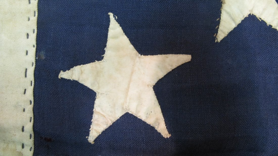Antique 13 Star American Flag,  3-2-3-2-3 Pattern - 5