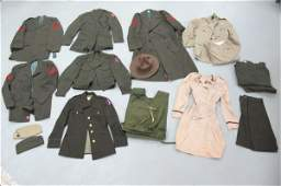 Collection of Vintage Military Garments: US Army Nurses
