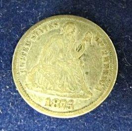 1875 Carson City Seated Liberty Dime