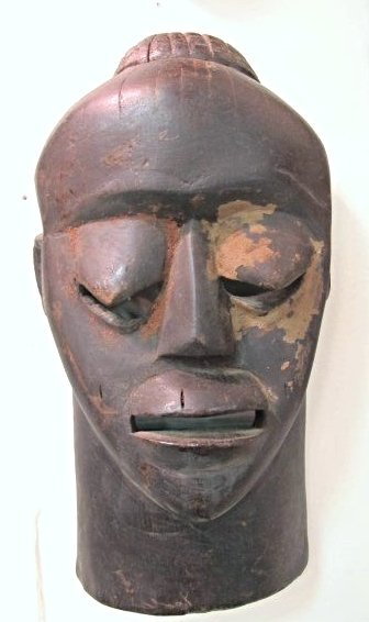 """African Carved Wooden Mask 14"""""""