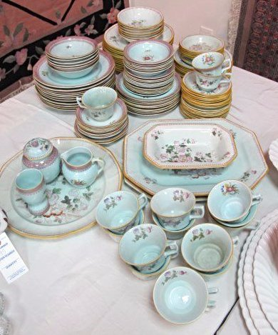 Adams Calyx Ware, Ming Jade English Ironstone China