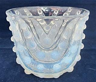 "Rene Lalique Vichy Vase 6 3/4"" tall, Model: 10-909,"