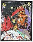 "Jimi Hendrix by Denny Dent, Acrylic on Paper 77""x60"""