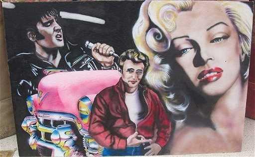 Marilyn Monroe James Dean Elvis By Kathy Oconnel On