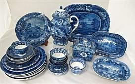 Collection of English Blue & White Transferware