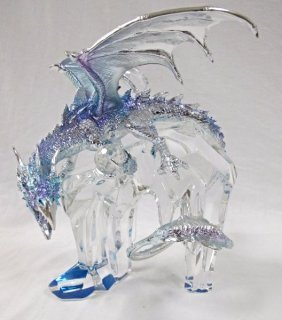 Dragon! Lord Of The Icy Realm Sculpture By Mike Whelan,