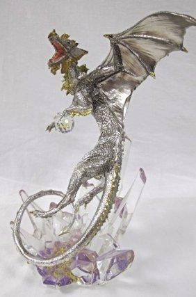 "Dragon! Sculpture By Michael Whelan, Franklin Mint, 14"""