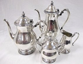 International 4 Piece Silver Plated Tea Service