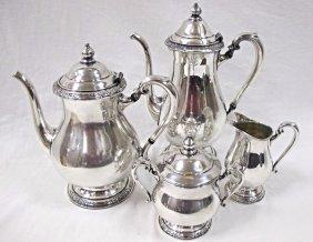International 4 Piece Silver Plated Tea Service