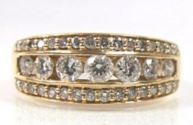Gents 14k Yellow Gold Diamond Band