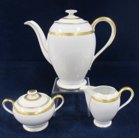 Three Piece Rosenthal Gilt Decorated Tea Set Including