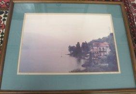 Framed Photo Of Lake Como, Italy By David Shafer, 1978,