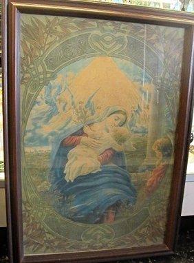 1920's Italian, A. Borari Art Deco Religious Painting