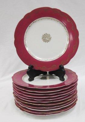 Set Of 12 W. Austria Porcelain Dessert Plates