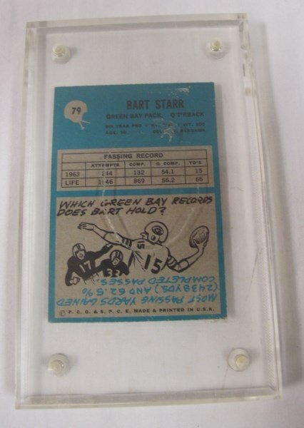 Drew Brees Graded Rookie Card and 1961 Bart Starr Card - 3
