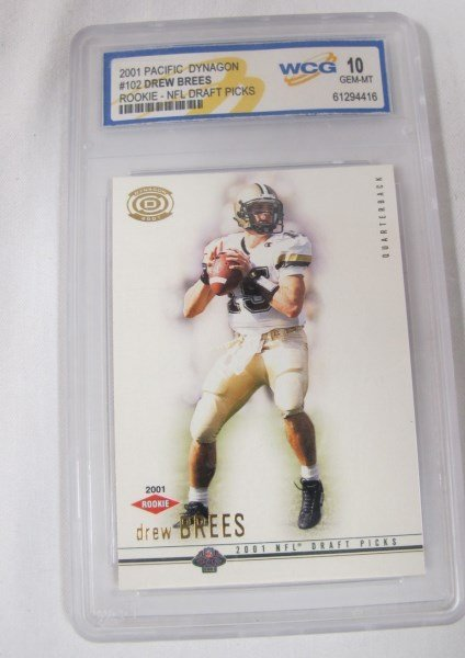 Drew Brees Graded Rookie Card and 1961 Bart Starr Card - 4