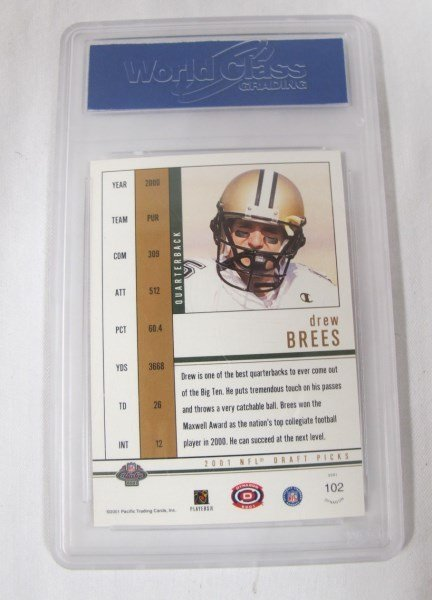 Drew Brees Graded Rookie Card and 1961 Bart Starr Card - 5