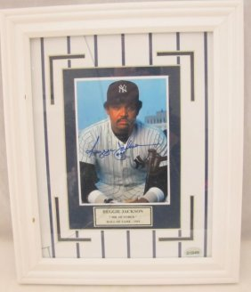 Reggie Jackson Autographed Photograph Framed With Coa