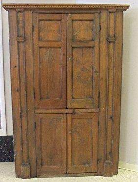"Antique American Corner Cabinet, 80""h x 50""w x 19""deep"