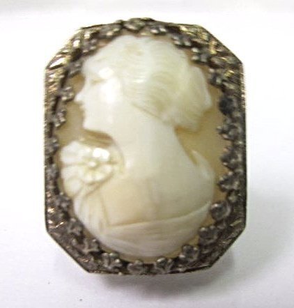 Sterling Silver Cameo Ring, Size 8 3/4