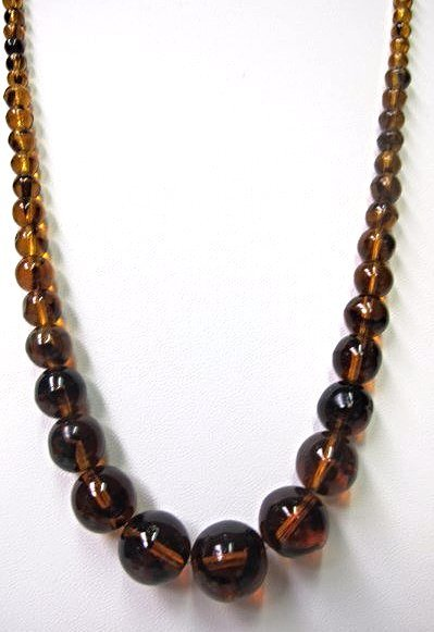 """16"""" Amber Bead Necklace"""