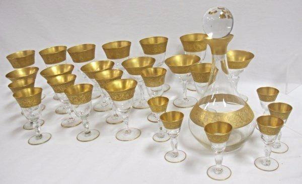 Vintage Gold Rimmed Stemware
