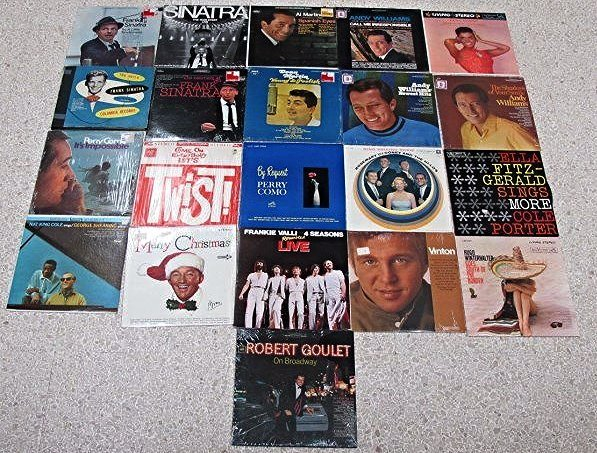 Large Collection of Vintage Vinyl Records
