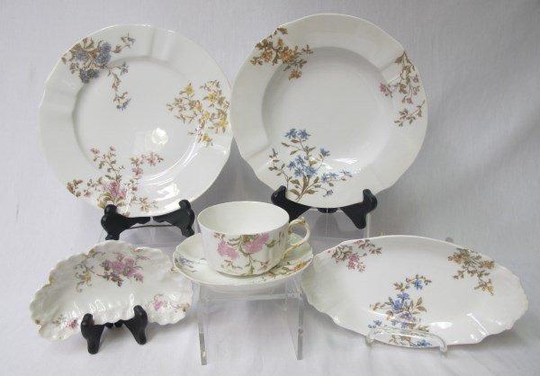 Limoges M. Redon Pattern Number 3812 Dinner Set - 5