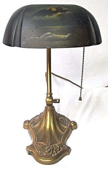 Pat Apl'd for Copper Students Desk Lamp with Reverse