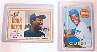 1969 Topps Ernie Banks Baseball Card and 1974 Topps