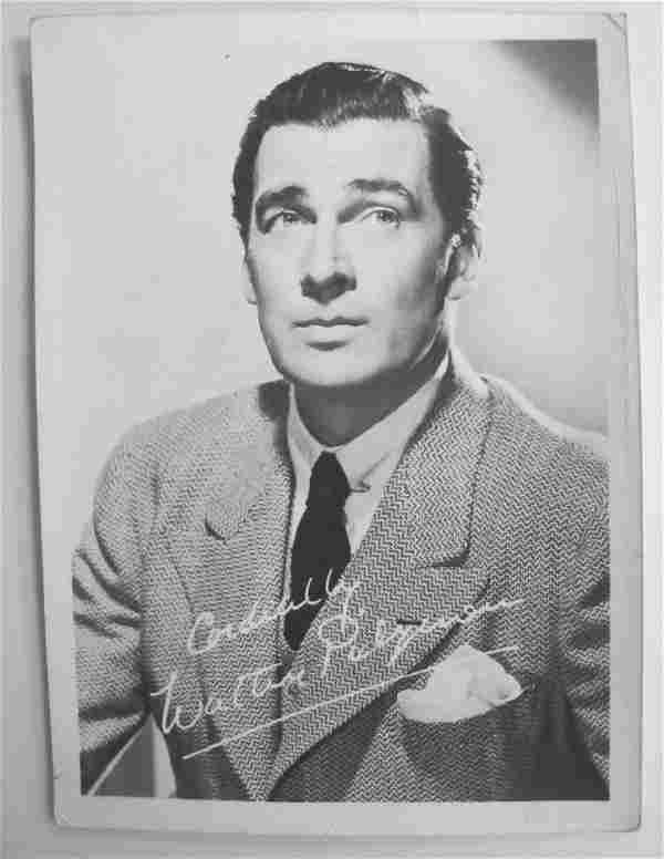 Autographed Letter Signed by Walter Pidgeon (1897-1984)