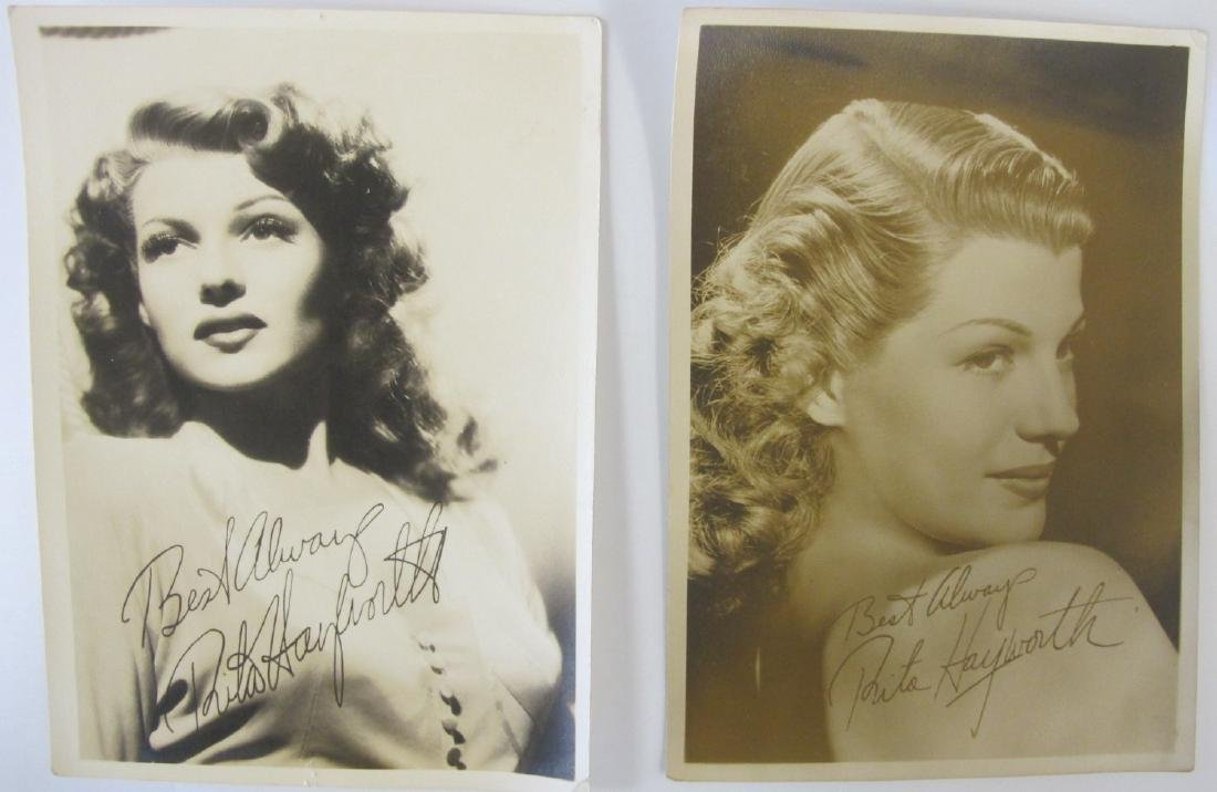 Two (2) Autographed Hollywood Promotion Photographs of