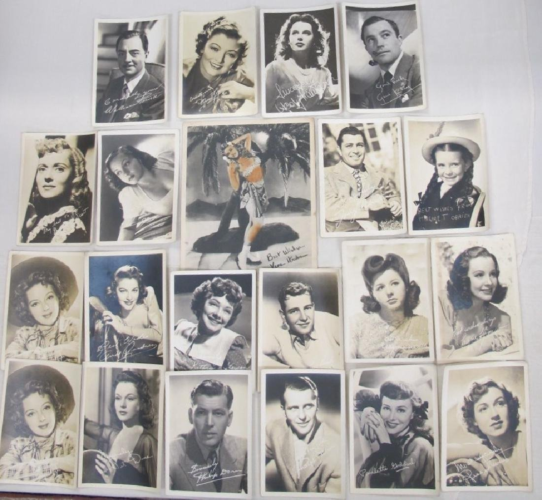 Collection of Vintage Hollywood Facsimile Signed