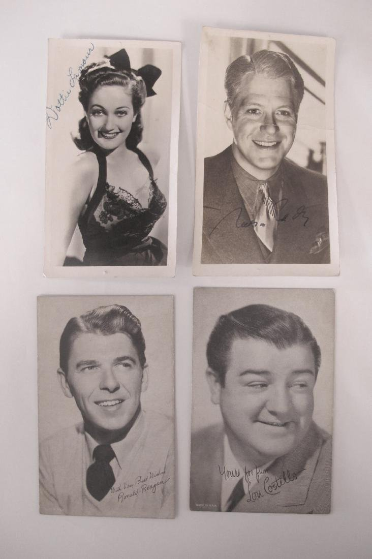"""Collection of 6""""x3 1/2"""" Autographed Hollywood Promotion"""
