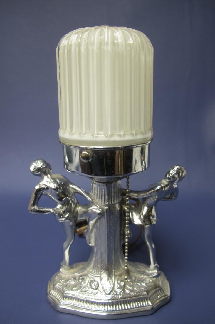 "Art Deco Lamp, 11"""