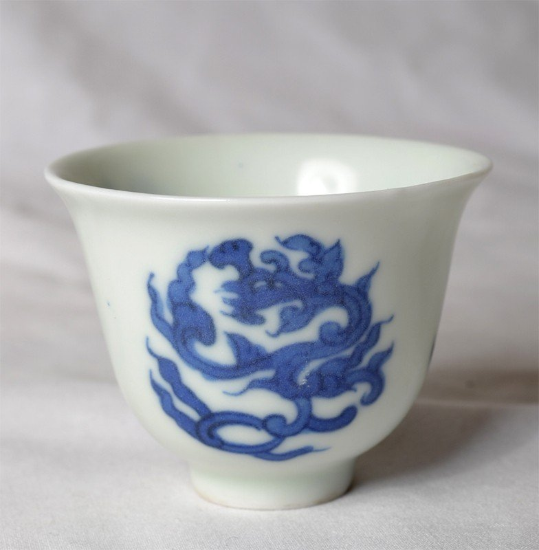 1: BLUE & WHITE PORCELAIN CUP