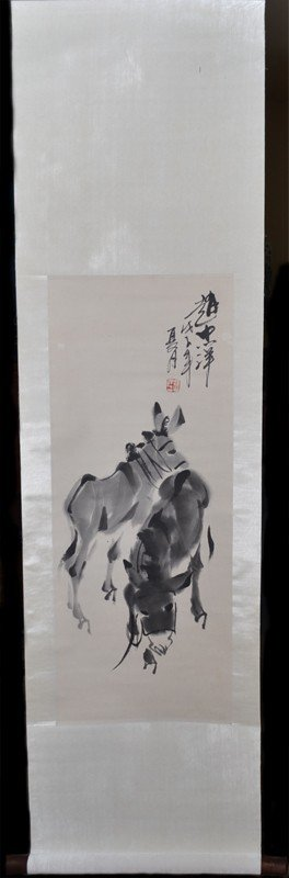 10: SCROLL PAINTING SIGNED ZHAO ZHONG XIANG