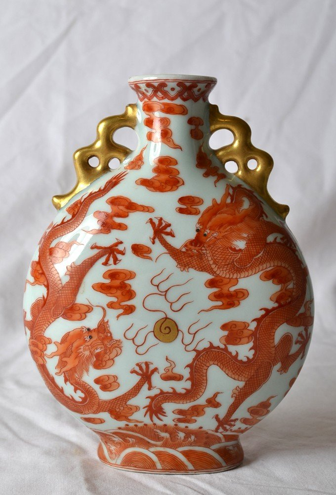 3: RED AND WHITE MOON VASE