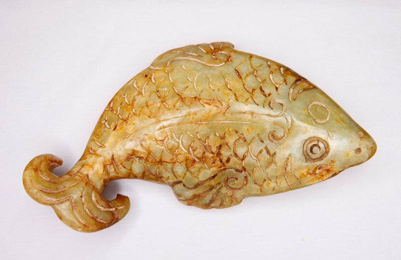 4: CARVED SOAPSTONE FISH