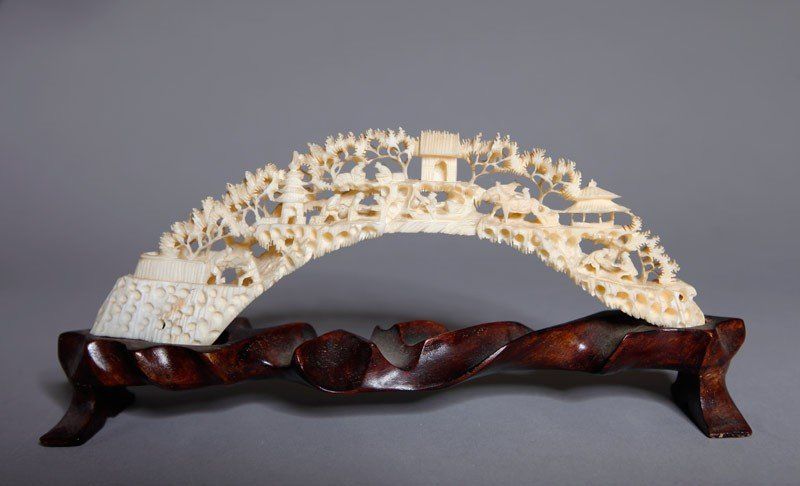 13: CHINESE CARVED IVORY TUSK