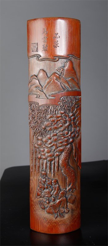 18: CHINESE CARVED BAMBOO JIAN GE