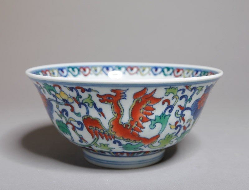 8: CHINESE DOU CAI PORCELAIN BOWL