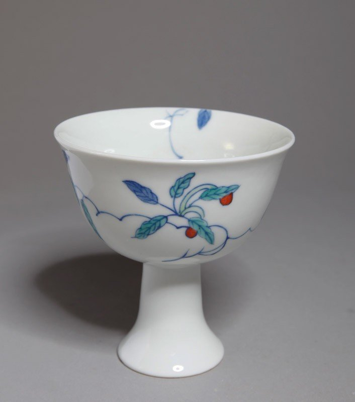18: CHINESE DOU CAI PORCELAIN COMPOTE