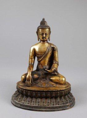 7: CHINESE BRONZE BUDDHA
