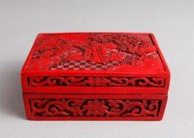 14: CHINESE CINNABAR STYLE BOX