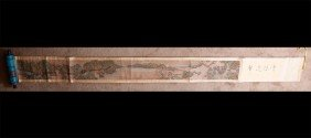 16: CHINESE SCROLL PAINTING SIGNED ZHEN RAN