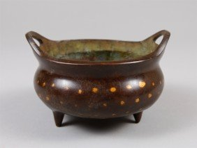 21: CHINESE BRONZE INCENSE CENSOR