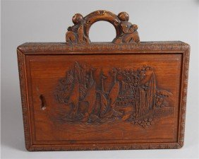 5A: HAND CARVED CHINESE POKER BOX